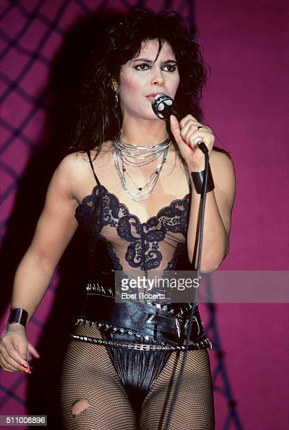 Vanity performing with Vanity Six performing at Radio City Music Hall in New York City on March 21 1983