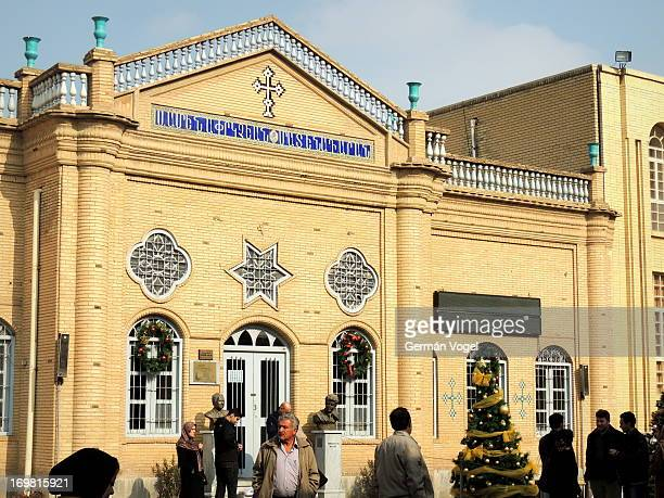 CONTENT] Vank cathedral of the Armenian Christian minority of Isfahan in Christmas time a display of religious tolerance in the Islamic Republic of...