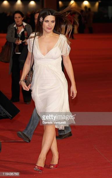 Vanlentina Cervi attends the Filmitalia/Unifrance 'Up And Coming Stars' premiere during day 5 of the 2nd Rome Film Festival on October 22, 2007 in...