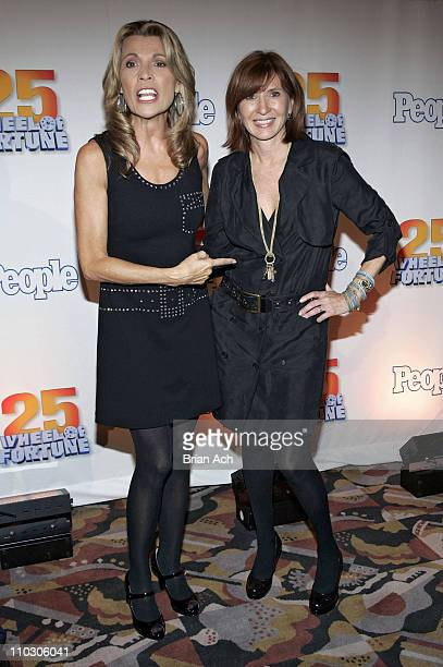 Vanna White and Designer Nicole Miller at the 'Wheel of Fortune' 25th Anniversary Party Sponsored by People Magazine on September 27 2007 at Radio...