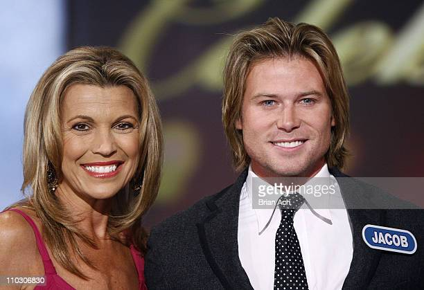 Vanna White and Jacob Young at the taping of the 'Wheel of Fortune' 25th Anniversary People Magazine Celebrity Week on September 29 at Radio City...