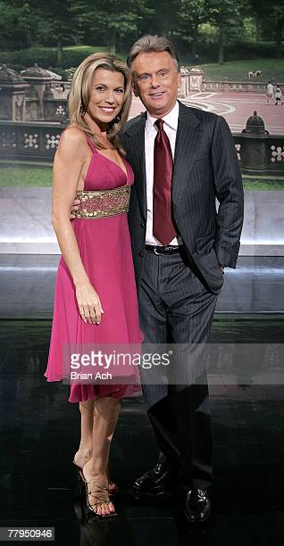 Vanna White and Pat Sajak at the taping of the 'Wheel of Fortune' 25th Anniversary People Magazine Celebrity Week on September 29 at Radio City Music...
