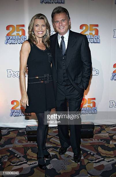 Vanna White and Pat Sajak at the 'Wheel of Fortune' 25th Anniversary Party Sponsored by People Magazine on September 27 2007 at Radio City Music Hall...