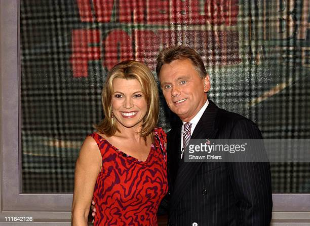"""Vanna White and Pat Sajak during """"Wheel of Fortune"""" Celebrates Its 4,000th Episode in New York City at Radio City Music Hall in New York City, New..."""