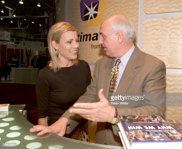 Vanna White and sportscaster Billy Packer were onhand to sign autographs and help promote 'Ultimate TV' at the Microsoft booth at the NATPE...