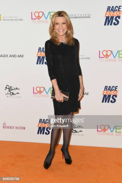 Vanna White attends the 25th Annual Race To Erase MS Gala at The Beverly Hilton Hotel on April 20 2018 in Beverly Hills California