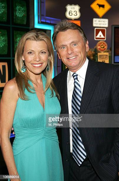 Vanna White CoHost of 'Wheel of Fortune' and Pat Sajak Host of 'Wheel of Fortune'