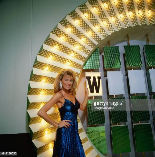 Vanna White on Wheel of Fortune Set