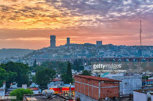 A vantage point view of Queretaro, Mexico at dawn