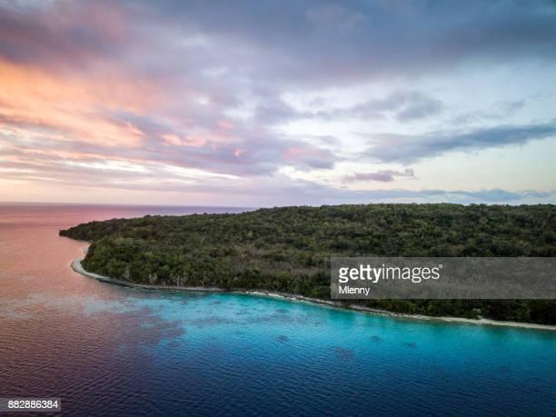 Vanuatu Efate Island Sunset Aerial View Port Villa
