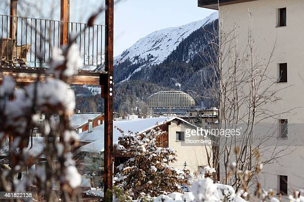 Vapor rises from a chimney at the InterContinental hotel Davos centre operated by InterContinental Hotels Group Plc ahead of the World Economic Forum...