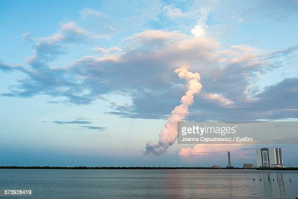 Vapor Trail At Cape Canaveral Against Sky