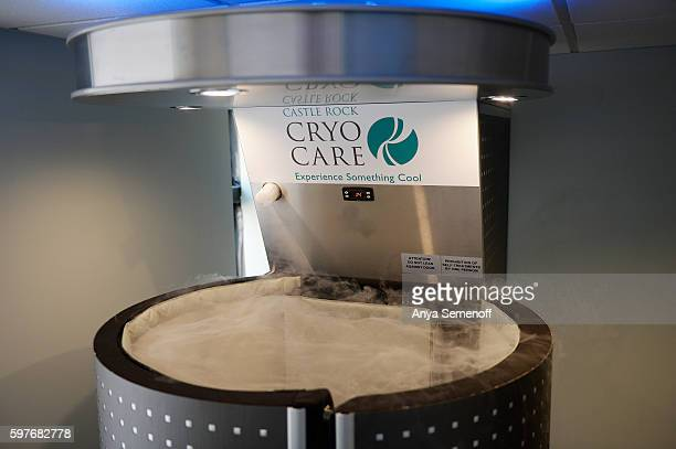 Vapors rise from the top of the cryotherapy sauna at Castle Rock CryoCare on August 19 in Castle Rock Colorado Castle Rock CryoCare opened in July