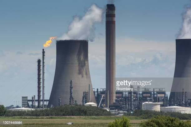 Vapour rises from the cooling towers of the Sasol Ltd. Secunda coal-to-liquids plant in Mpumalanga, South Africa, on Monday, Feb. 3, 2020. At 56.5...
