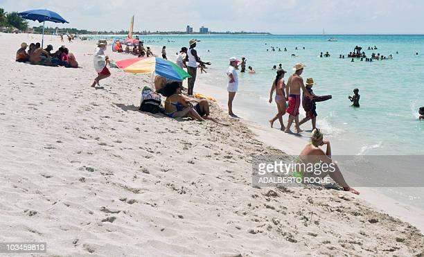 Varadero beach in Matanzas province on August 14 2010 AFP PHOTO/ADALBERTO ROQUE