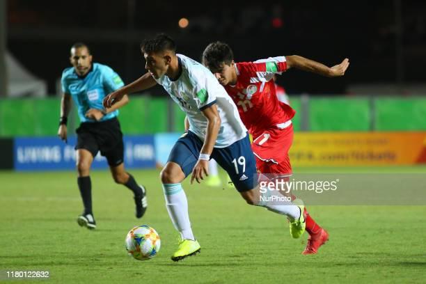 Varaldo of Argentina controls the ball during the FIFA U17 World Cup Brazil 2019 Group E match between Argentina and Tajikistan at Estadio Kleber...