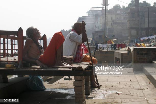 Varanasi, Banares or Kashi, India's holiest city to die, one of the oldest living cities (1800 BCE) in the world