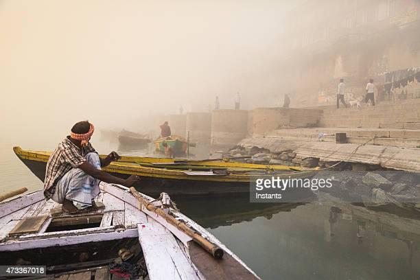 Varanasi Boat Oarsman
