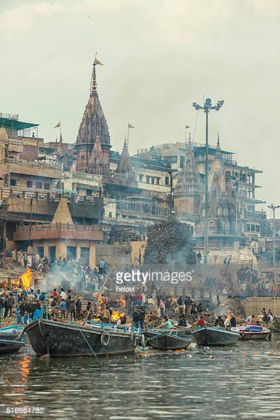 varanasi burning grounds - ghat stock pictures, royalty-free photos & images