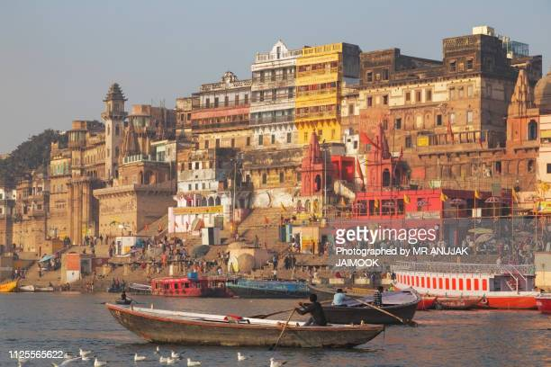 varanasi city, india - ghat stock pictures, royalty-free photos & images
