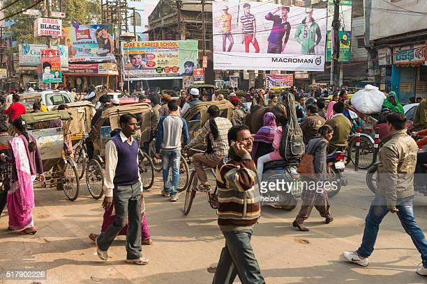 Varanasi crowded main street