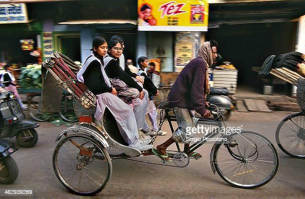 Varanasi, India - Schoolgirls
