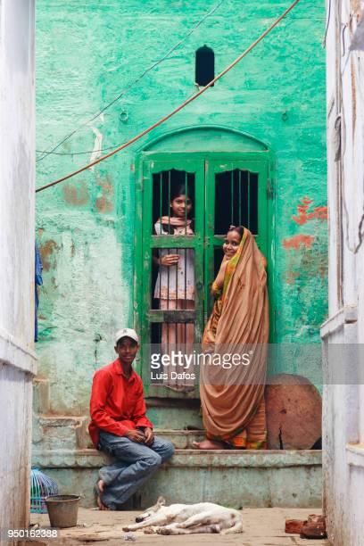 Varanasi old town street scene