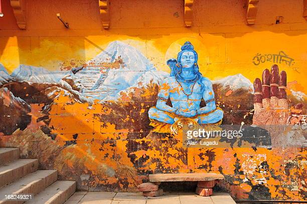 varanasi,uttar pradesh,india. - shiva stock pictures, royalty-free photos & images