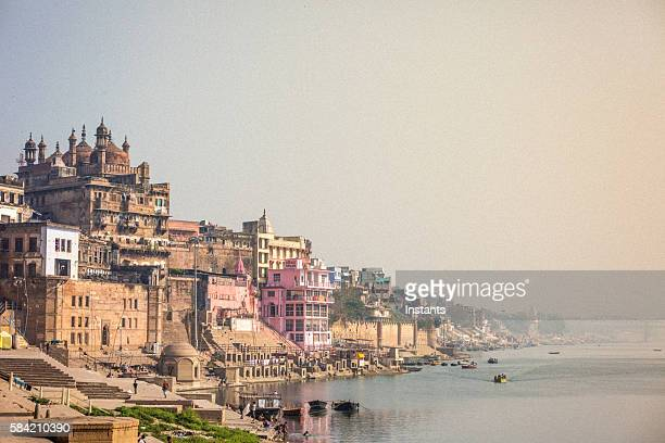 varasani scene - ganges river stock pictures, royalty-free photos & images