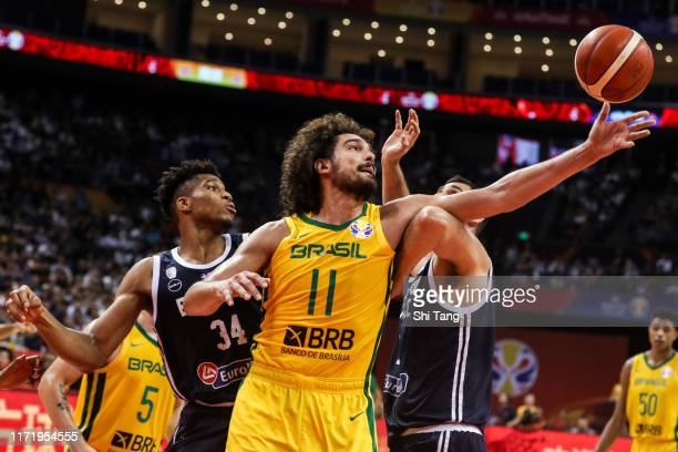 Varejao Anderson of Brazil in action during 2nd round Group F match between Greece and Brazil of 2019 FIBA World Cup at Nanjing Youth Olympic Sports...