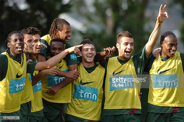 Varela Filipe Oliveira Ruben Amorim Rolando Antunes Amoreirinha and Jose Goncalves during the Portugal Under 21 Training and Press Conference at...