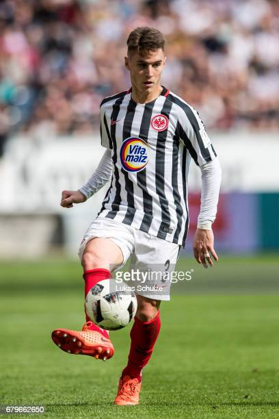 Varela Guillermo of Frankfurt in action during the Bundesliga match between Eintracht Frankfurt and VfL Wolfsburg at CommerzbankArena on May 6 2017...