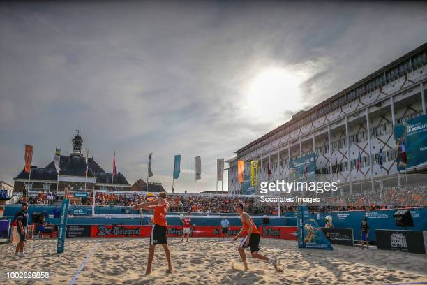 Varenhorst Bouter vs Bergmann Harms during the match between Varenhorst v Bouter vs Bergmann Harms at the Marktplein Apeldoorn on July 20 2018 in...