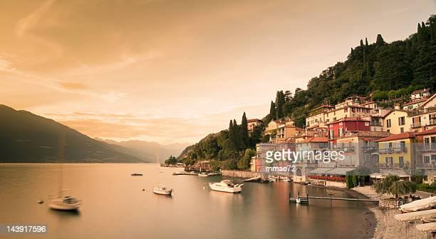 varenna, lago di como - lake como stock pictures, royalty-free photos & images