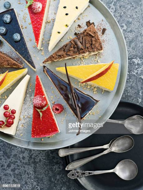 variation of cakes - cheesecake stock pictures, royalty-free photos & images