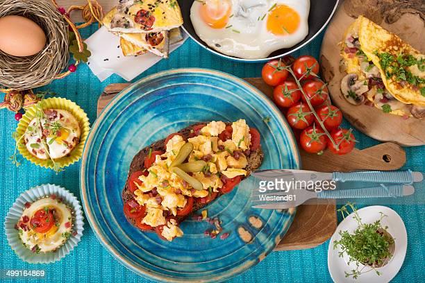 Variation of egg dishes