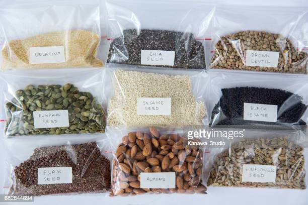 Variation of healthy organic seeds