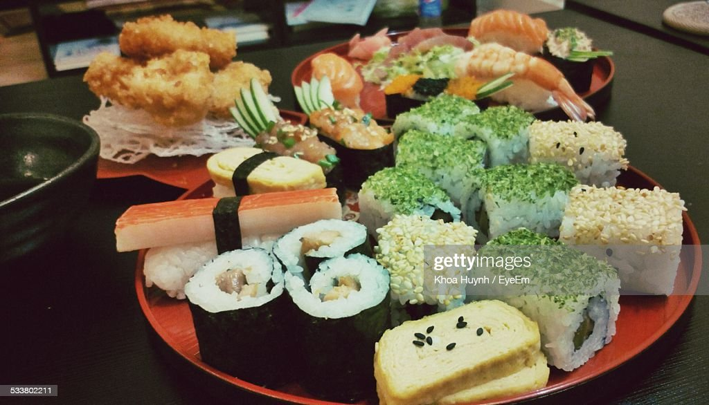 Variation Of Sushi On Plate : Foto stock