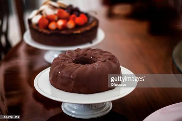 Variations of chocolate cake