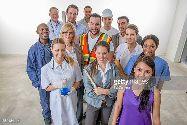 Varied Group of Business Workers