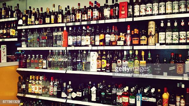 Varieties Of Liquor For Sale In Store