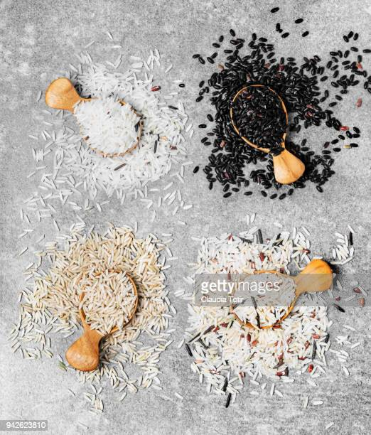 varieties of rice - black rice stock pictures, royalty-free photos & images