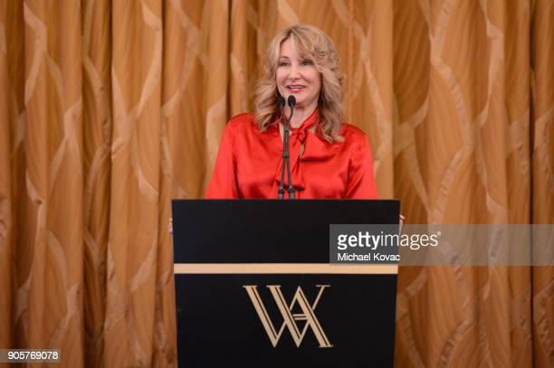 Variety Chief Marketing Officer Dea Lawrence speaks onstage at the Advanced Imaging Society 2018 Lumiere Technology Awards Featuring The...