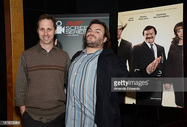 Variety Features Associate Editor Jon Weisman and actor Jack Black attend the 2012 Variety Screening Series of Bernie at Mann Chinese 6 on December 4...