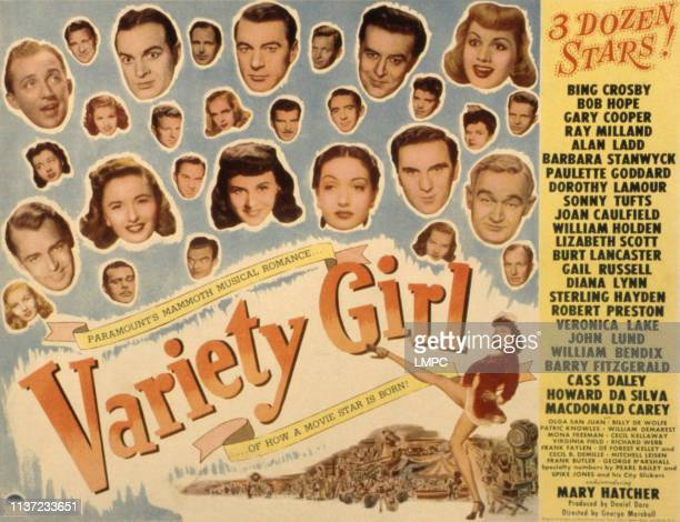 Variety Girl poster Bing Crosby Bob Hope Gary Cooper Ray Milland Alan Ladd Barbara Stanwyck Paulette Goddard Dorothy Lamour Sonny Tufts Joan...