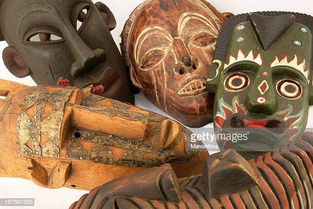 Variety of African masks