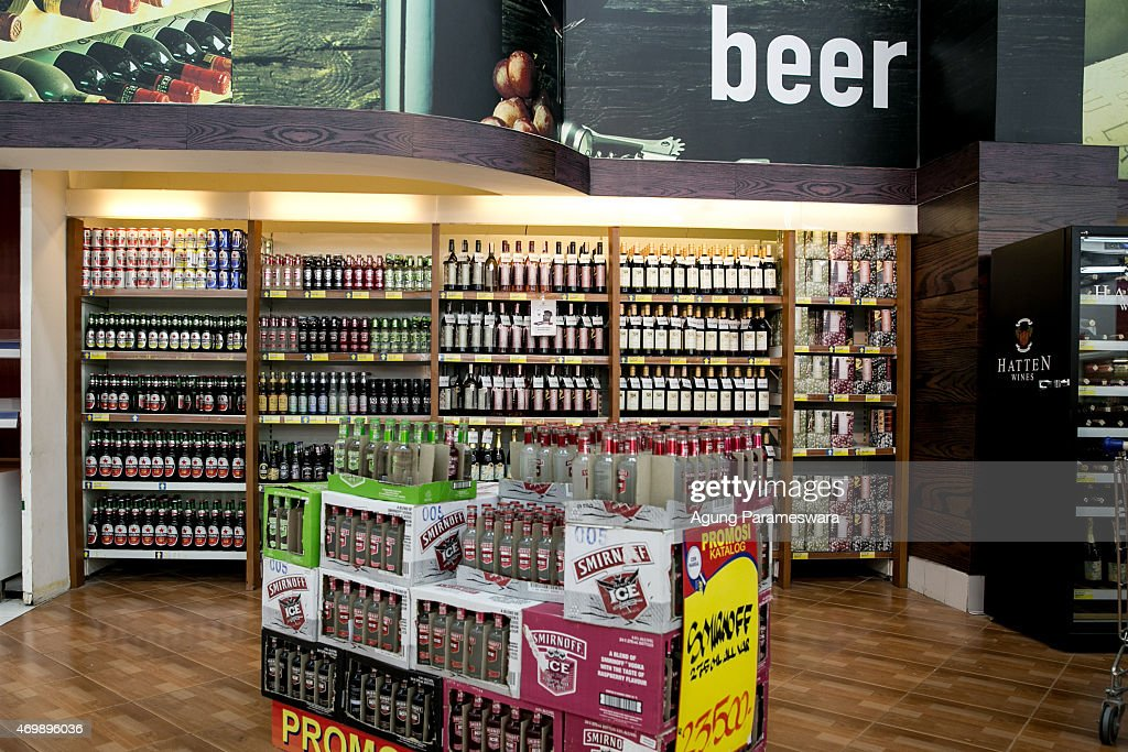 A variety of alcoholic drinks are seen on a special spot at Hypermart on April 16, 2015 in Denpasar, Bali, Indonesia. Indonesia, on April 16, banned small retailers from selling beer which is proposed that legislation by two Islamic parties-the Prosperous Justice Party and the United Development Party-that would ban all consumption of alcoholic drinks and bring jail terms of up to two years for offenders in Indonesia, home to the world's largest Muslim population. The regulation states that it is needed to protect public morals and culture and to improve the control and supervision of alcohol production, distribution and sales. There had been particular anxiety about how the ban might affect tourism on the Hindu-majority resort island of Bali. However, Indonesian trade minister Rachmat Gobel, who was shouted at during an ill-tempered meeting with community leaders in Bali last weekend, has now pledged to ease the restrictions on the island to ensure street vendors can still sell beer at the beach.