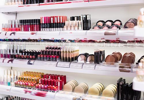 Variety of assortment of modern cosmetics store 933154330