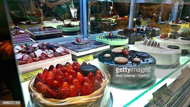 Variety Of Cakes At Bakery Shop
