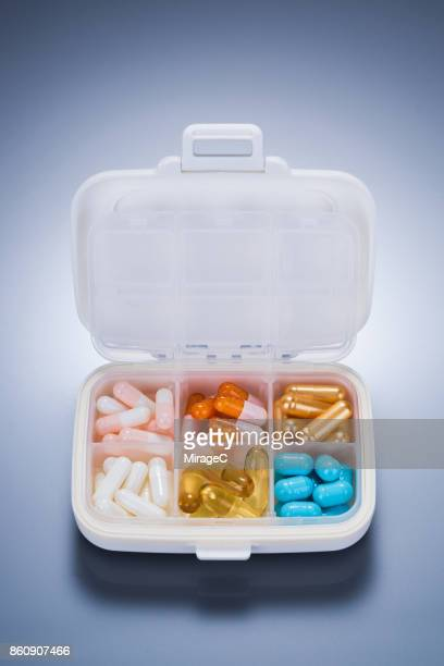 A Variety of Capsules in Pill Case
